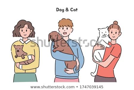 toewijding · hond · gewijd · horizontaal - stockfoto © is2
