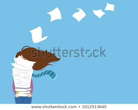 Woman carrying files Stock photo © IS2
