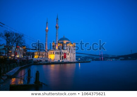 Nascer do sol mesquita istambul Turquia água pôr do sol Foto stock © Givaga