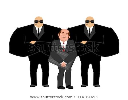 Biznesmen vip ochrony czarny garnitur strony silne Zdjęcia stock © popaukropa