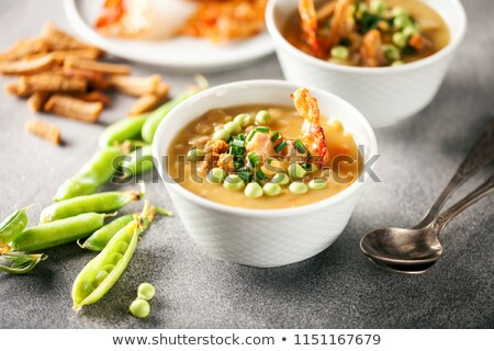 Bowl Of Organic Lentils With Carrot And Peas Stock photo © mpessaris