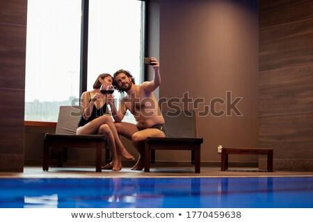 Romantikus portré kettő szerelmespár készít pirítós Stock fotó © majdansky