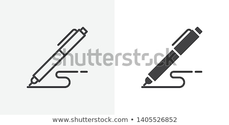 Stock photo: Signature icon in different style