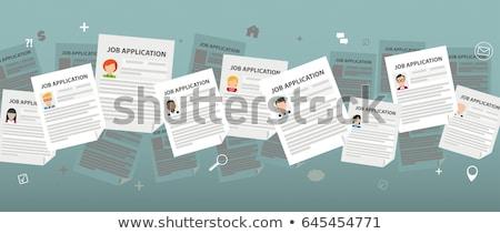 Clipboard with Job Application Stock photo © sidewaysdesign