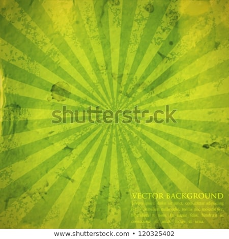 crumpled green sunburst background stock photo © adamson