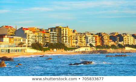 Beachfront city district. Porto, Portugal Stock photo © joyr