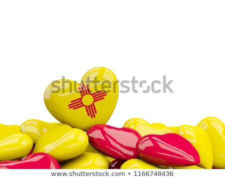 Kalp New Mexico bayrak Amerika Birleşik Devletleri yerel Stok fotoğraf © MikhailMishchenko