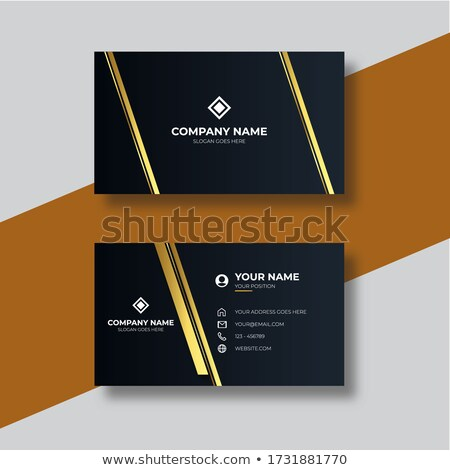 red luxury golden business card design stock photo © sarts