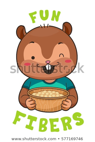 Mascot Chipmunk Chickpeas Fibers Stock photo © lenm