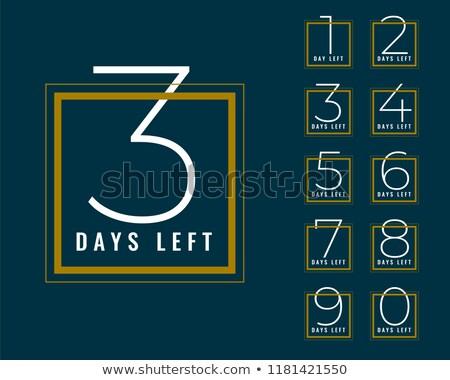 clean number of days left banner design Stock photo © SArts