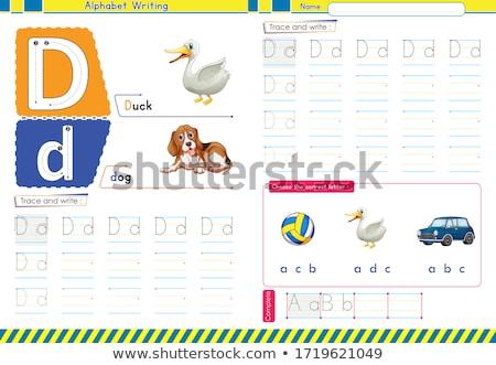 Escrever livro crianças desenho animado ilustração Foto stock © izakowski