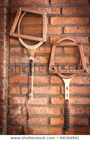 Vintage Room Style And Old Tennis Racket Stok fotoğraf © SuriyaPhoto