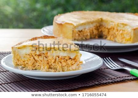 Mięsa ciasto świeże szynka pikantny Zdjęcia stock © simas2