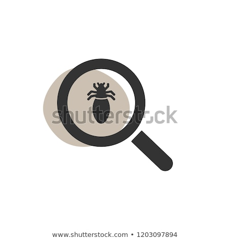 Magnifying glass looking for a lice isolated web icon Stock photo © Imaagio