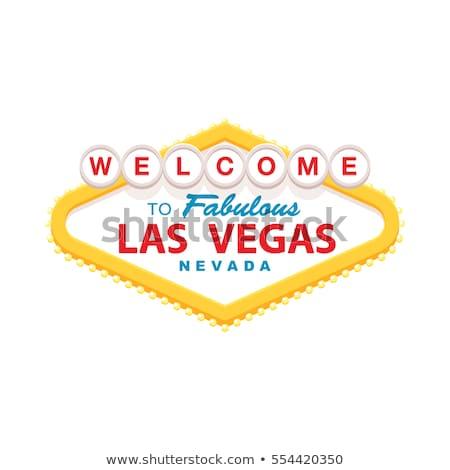 Híres Las Vegas felirat éjszaka város Nevada Stock fotó © vichie81