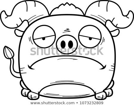 漫画 悲しい 青 雄牛 実例 ストックフォト © cthoman