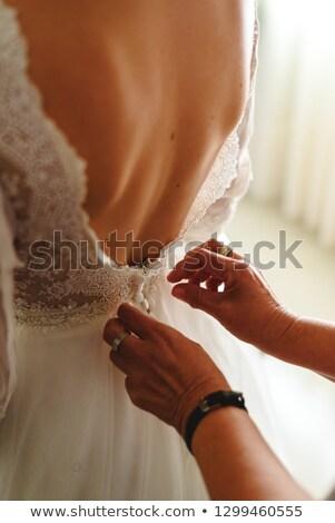 Maakt · een · reservekopie · bruid · trouwjurk · afbeelding · meisje · huwelijk - stockfoto © ruslanshramko