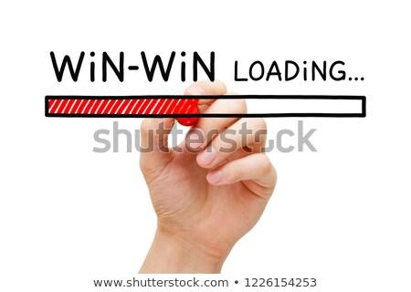 Bar mão desenho ganhar situação marcador Foto stock © ivelin