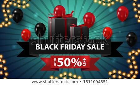 stylish black friday vibrant sale banner stock photo © sarts