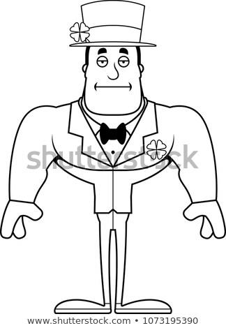 Cartoon скучно ирландский человека глядя Сток-фото © cthoman