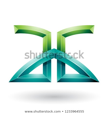 Light and Dark Green Bridged Embossed Letters of A and G Vector  Stock photo © cidepix