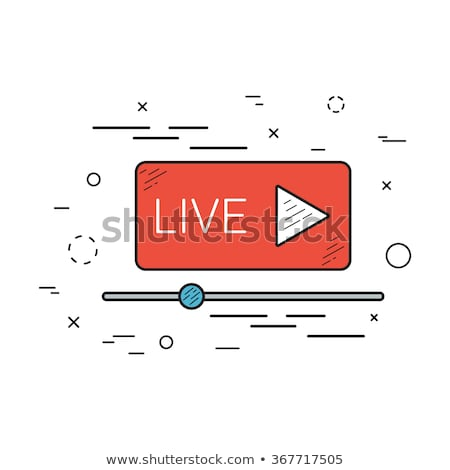 vector · man · live · video · streaming · online - stockfoto © decorwithme