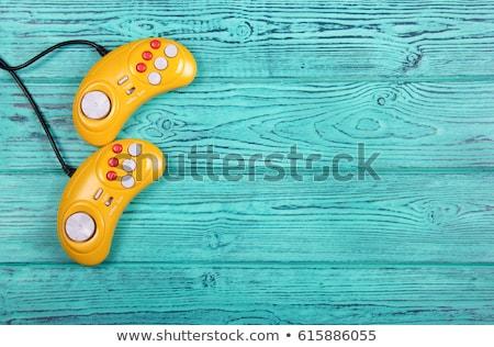 синий геймпад таблице технологий развлечения Сток-фото © dolgachov
