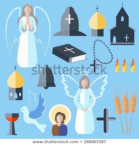 katolicki · chrzest · ilustracja · dziewczynka · dziewczyna · dziecko - zdjęcia stock © imaagio