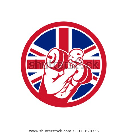 Britânico ginásio circuito union jack bandeira ícone Foto stock © patrimonio