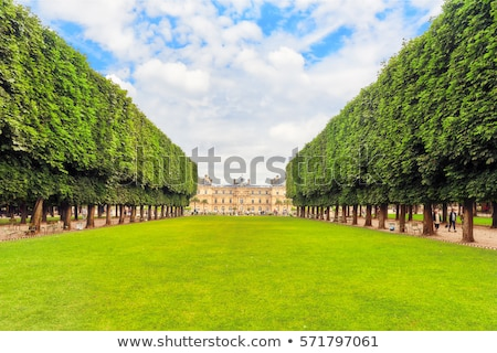 luxembourg garden with pond stock photo © neirfy