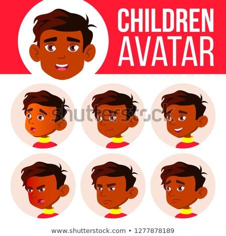 インド 少年 アバター セット 子供 ベクトル ストックフォト © pikepicture