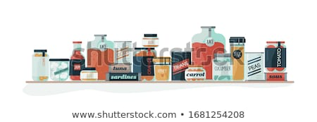 Preserved Food Banners with Vegetable and Fruit Stock photo © robuart