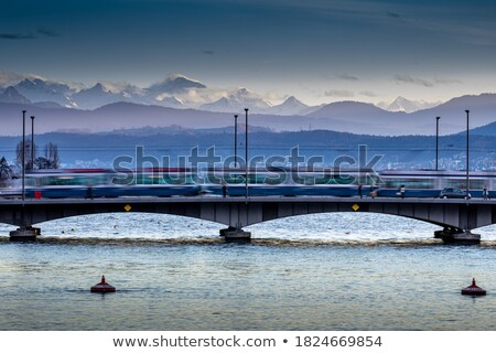 Zurich, Switzerland - view of the Limmat river with its  bridges Stock photo © lightpoet