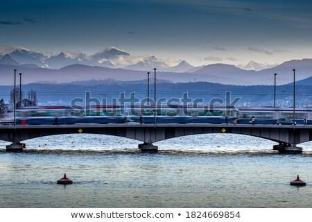 Zurich, Switzerland - view of the Limmat river with its  bridges Stock photo © lightpoet