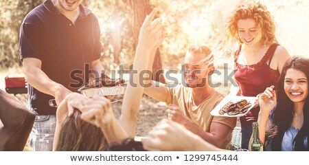 Woman celebrate Australia Day with beer Stock photo © lovleah