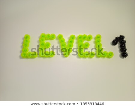 Black and white layered Number 1 ONE 3D Stock photo © djmilic