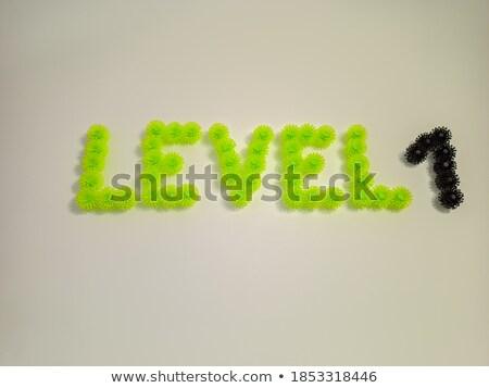 черно белые числа один 3D 3d визуализации Сток-фото © djmilic