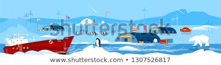 Arctic Expeditions and Discoveries North Pole Stock photo © robuart
