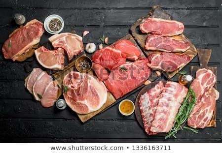 Different kinds of meals with beef Stock photo © colematt