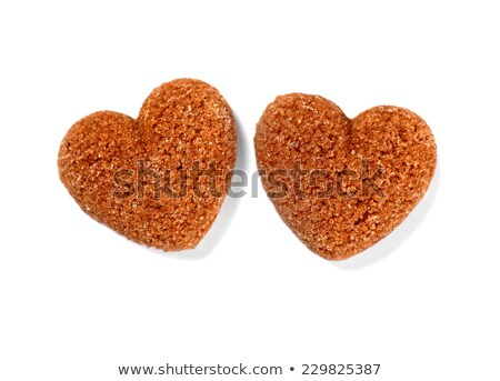 sugar cubes in shape of heart isolated stock photo © threeart