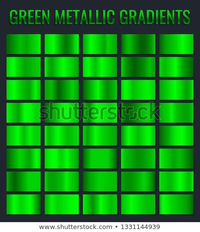 Collectie groene metalen helling briljant platen Stockfoto © olehsvetiukha
