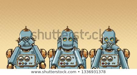 ロボット 参照してください 何も ポップアート レトロな ストックフォト © studiostoks