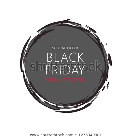 Total Sale Mega Offer Black Friday Round Sticker Stock photo © robuart