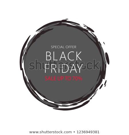 black · friday · vásár · ajánlat · matrica · ikon · mega - stock fotó © robuart