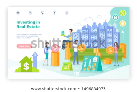 green house real estate business landing page stock photo © cienpies