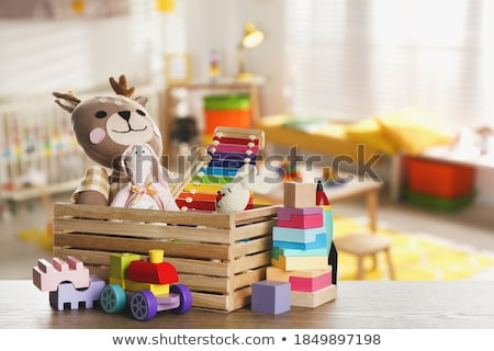 many children playing in bedroom stock photo © colematt