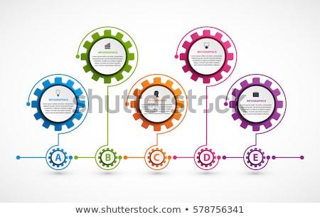 blank gears infograph modern banner Stock photo © SArts