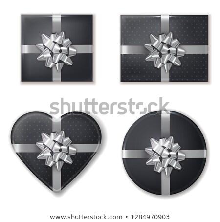 Ayarlamak toplama siyah gümüş vektör gerçekçi Stok fotoğraf © frimufilms