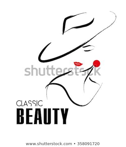 cara · da · mulher · design · de · logotipo · feminismo · negócio · menina · cor - foto stock © djdarkflower