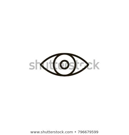 глаза вектора линия иконки икона изолированный Сток-фото © smoki